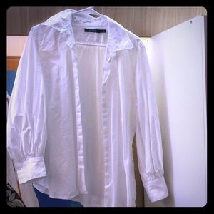 Ralph Lauren large white button down poet shirt